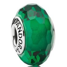 Pandora Green Faceted Murano Charm - 791619