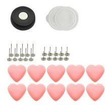 10 Pack Pink Heart Buckles And Non-slip Pins Set Quilt Cover Bed Sheet Fasteners