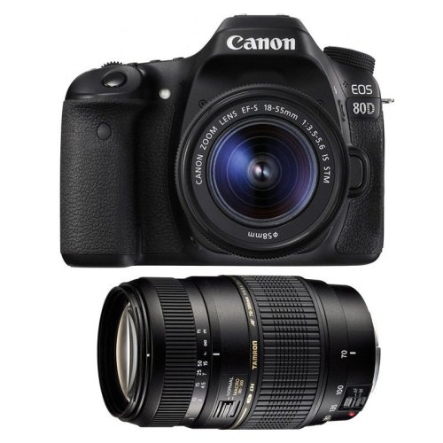 CANON EOS 80D + EF-S 18-55mm F4-5.6 IS STM+ TAMRON AF 70-300mm Di LD