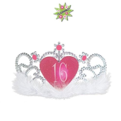 Beistle 60014 Plastic Light-Up 16 Tiara, White - Pack of 6