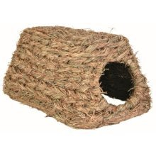 Trixie Grass House For Small Animals, 28 x 18 x 13cm - Guinea Pig 13cm -  trixie grass house guinea pig 28 18 13 cm