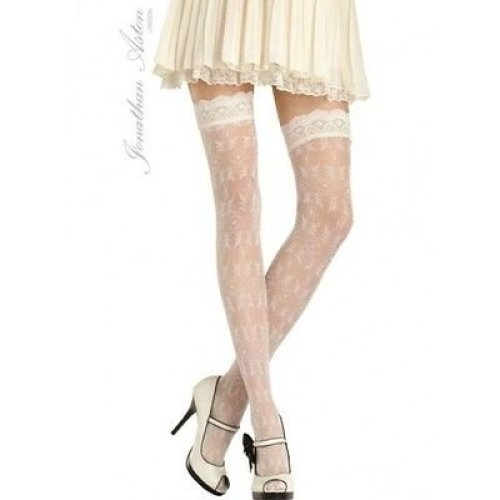 Jonathan Aston Antique Floral Tulle Hold Ups