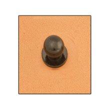 Large Black Screwback Button Stud -  large black screwback button stud 10mm leathercraft accent tandy