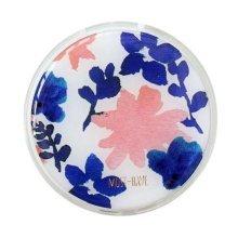 Stylish Round Contact Lenses Case Storage Holder Pink Flower
