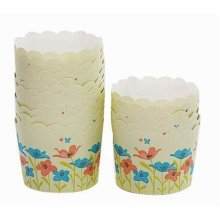 Heat-Resistant Baking Cups Cupcake Cups Muffin Cups, 40Pcs[Morning Glory]