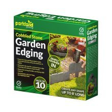 1 x 10 pack Cobbled Stone Garden Edging With Led Lights