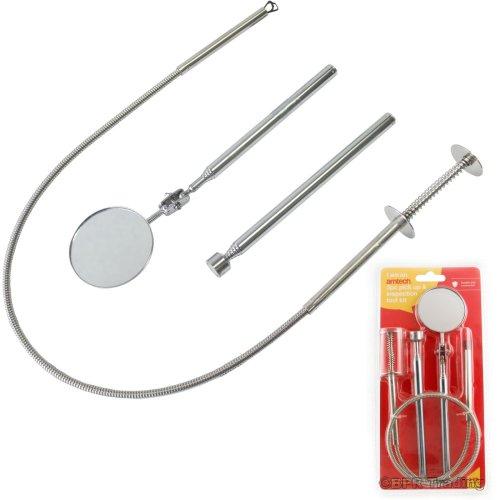 3pc Inspection & Pick Up Tool Kit Telescopic Grabber Magnetic Extending S2922
