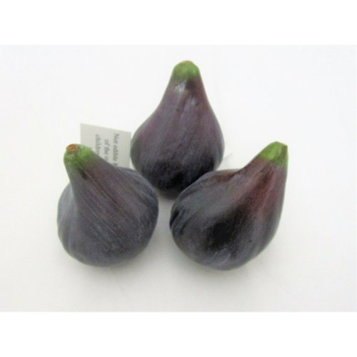 Pack of 3 Artificial Figs - Artificial Plastic Fig - Decorative Fruit