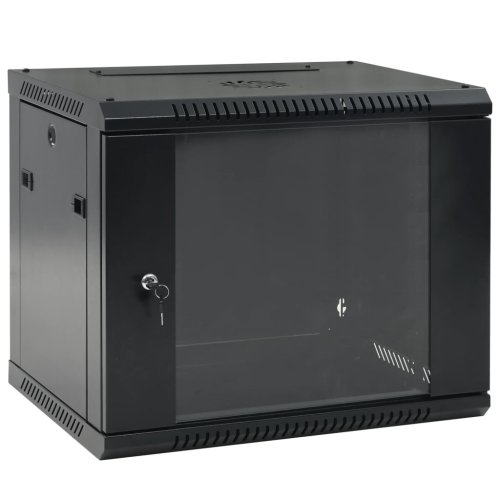 "vidaXL 9U Wall Mounted Network Cabinet 19"" IP20 600x450x500mm Data Equipment"