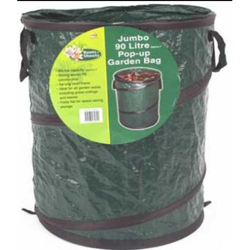 90l Jumbo Pop-up Garden Bag -  popup sack x silverline 450 460mm 394998