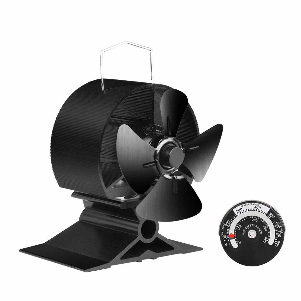 Jksmart Mini Stove Fan For Small E On Log Wood Burner Fireplace Eco Friendly Silent Fan(blackï¼