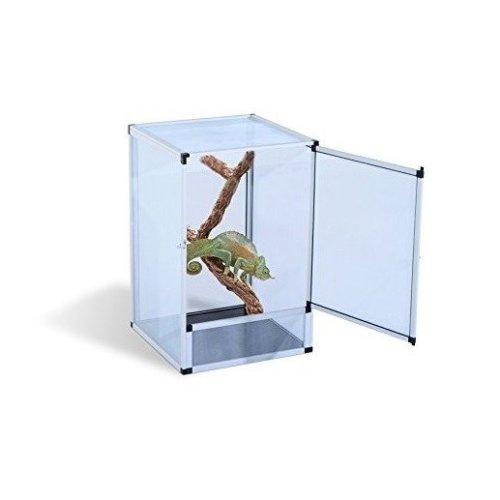 Pawhut Reptile Tank Cage Aluminum Vivarium Pet Breeder Breeding Tall Enclosure (small Size)