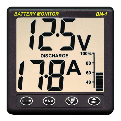 NASA Marine Clipper BM1-24 Battery Monitor - 24VDC + 5m Cable Included¦For Boats