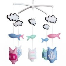Colorful Decor Crib Mobile, Handmade Baby Toy, Cute and Creative Gift [Summer]