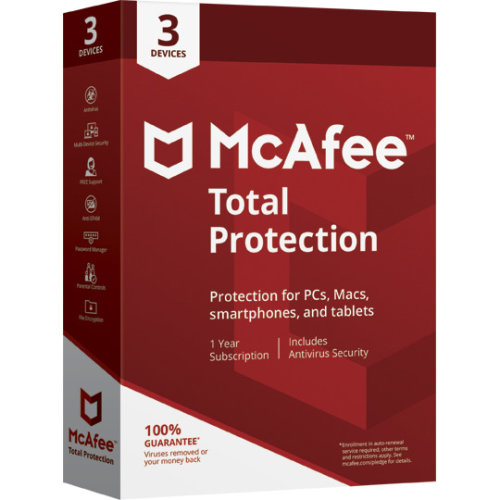 McAfee Total Protection Antivirus | 3 Devices