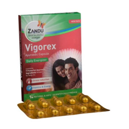 5 Pack Zandu Capsule - Vigorex Gold, 10 Caps each