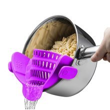 Multipurpose Silicone Funnel Pot Bowl Wide Mouth Strainer Noodles Pasta Filter Rice Washing Colander