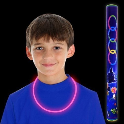 "Fun Central S9 22"" Premium Glow Necklaces - Pink 50ct"