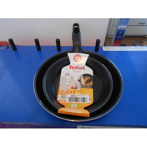 Tefal Extra Twin Frypan Pack, 20/26 cm - Black