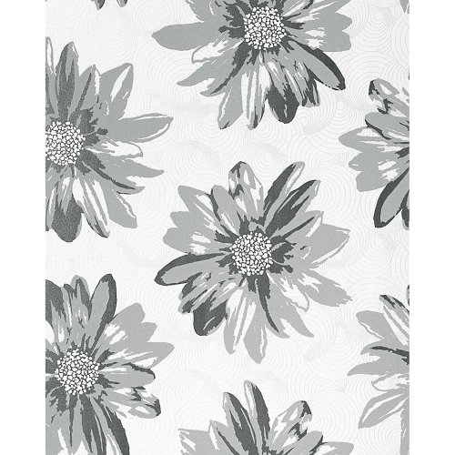 EDEM 058-26 Retro sweet summer floral wallpapaper flower cream-white light grey