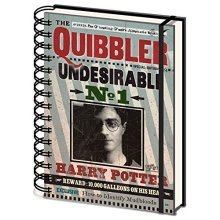 Harry Potter Sr72236 Quibbler Undesirable No 1 Wiro Notebook (a5) -