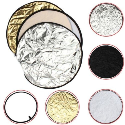 5 In1 24 Inch 60cm Photography Studio Photo Collapsible Soft Light Reflector
