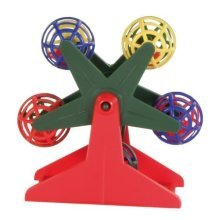 Trixie Ferris Wheel With Little Rattling Balls For Bird, 10cm - Bird Toy Budgie -  bird toy ferris wheel budgie trixie balls rattling canary cage play