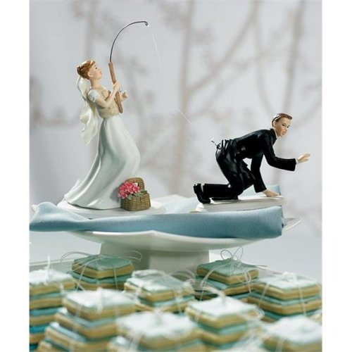 Weddingstar 7106  Caught  Groom Mix & Match Cake Topper- Caucasian- Groom Only