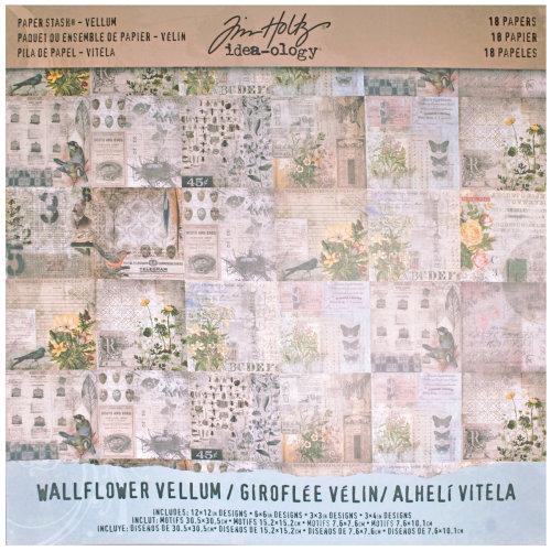 """Idea-Ology Vellum Paper Stash 12""""X12"""" 18/Pkg-Wallflower"""
