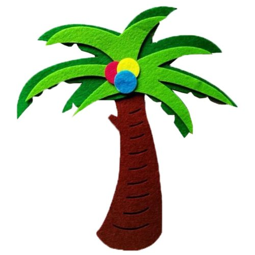4 PCS, Nursery Wall Decor Material [Coconut Tree] Wall Decals