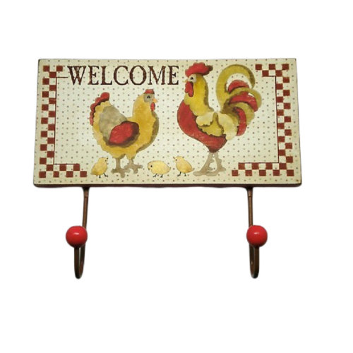 Chicken & Rooster Coat Hooks Country Kitchen