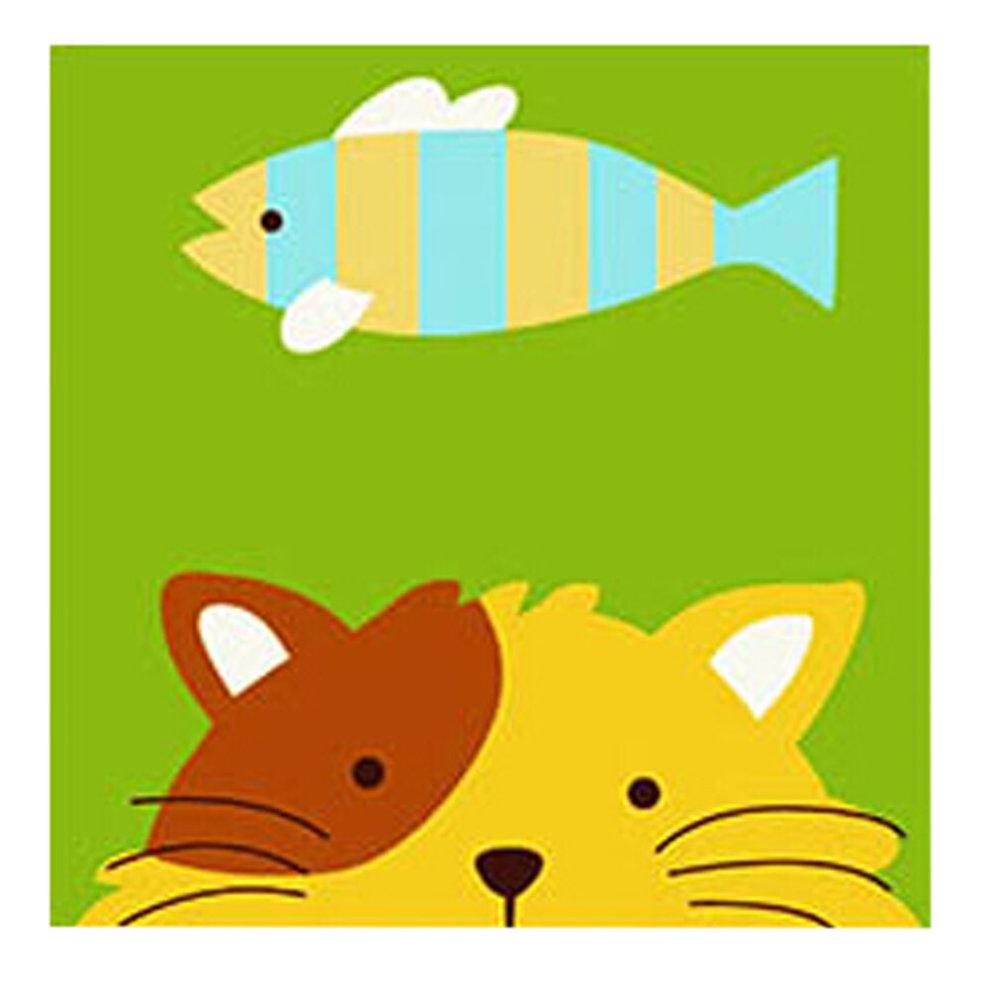 DIY Kid Digital Oil Painting Color Palette Linen Painting Set Cat ...