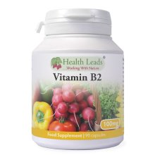 Vitamin B2 (Riboflavin) 100mg x 90 capsules (Magnesium Stearate Free)