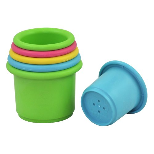 Green Sprouts Sprout Ware Stacking Cups made from Plants (one Size, Multi-colour, Pack of 6)