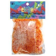 Official Rainbow Loom 600 Neon Orange Refill Bands