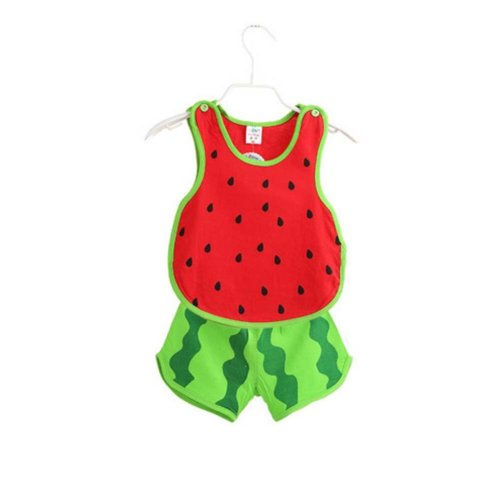 Sleeveless Watermelon Baby Suit Kids Cloth,80cm