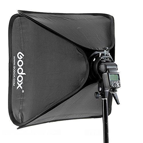 Godox 24 x24 60cmx60cm Portable Collapsible Softbox Kit for Camera Photography Studio Flash fit Bowens Elinchrom Mount
