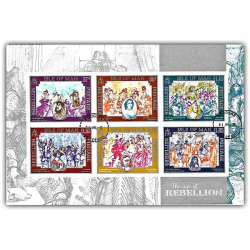 Isle of Man 2019 Stamps The Age of Rebellion Self Adhesive Pane (CTO)