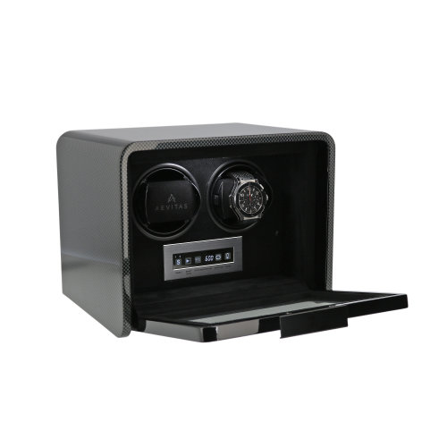 2 Watch Winder Carbon Fibre Finish Premier Collection V2 by Aevitas