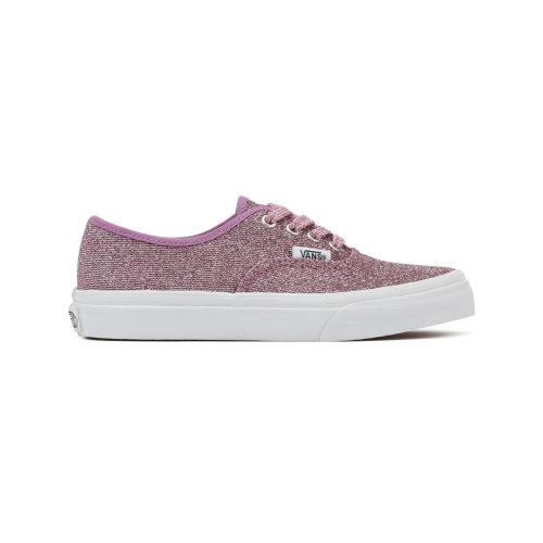 Vans Kids Lurex Glitter Pink / True White Authentic Trainers