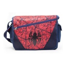 Spider-Man Spiders Web Logo Shoulder Messenger Bag Blue/Red (MB00174SPN)