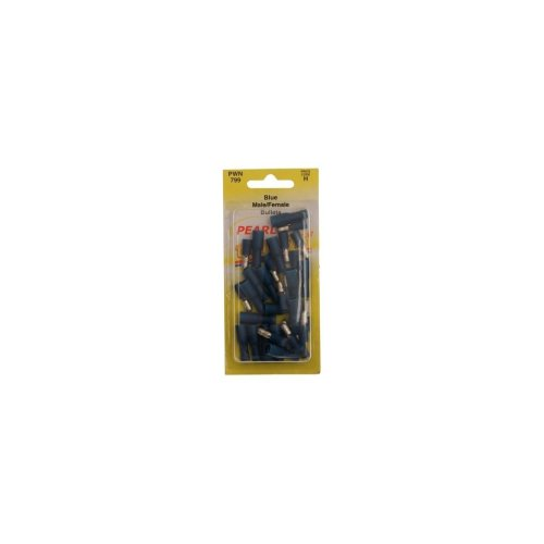 Wiring Connectors - Blue - Male/Female Bullet - 5mm - Pack of 15