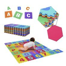 Homcom 36pc Interlocking Floor Puzzle | Baby Foam Puzzle Mat