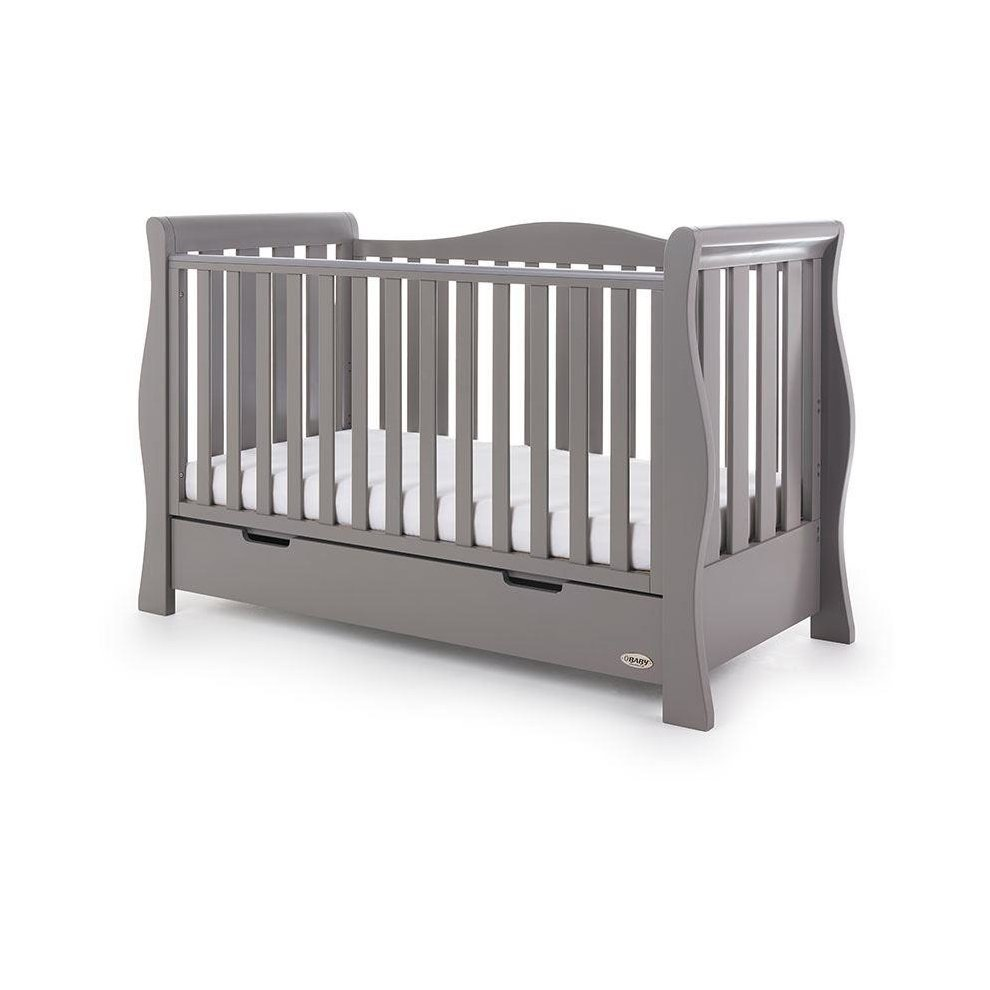 official photos 73704 0b921 Obaby Stamford Luxe Cot Bed (140x70) - Taupe Grey
