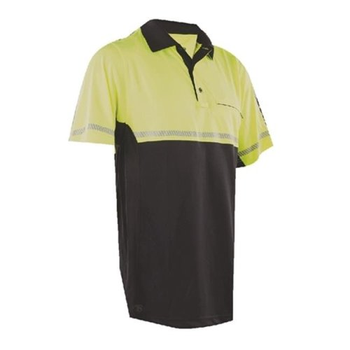 Tru-Spec TSP-4324007 24-7 Bike Performance Polo Shirt with Reflective Tape, Hi-Vis Yellow - 2XL