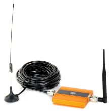 "2G 3G 4G Cell Phone Lightning Proof Signal Booster w/ 0.6"" LCD Golden"