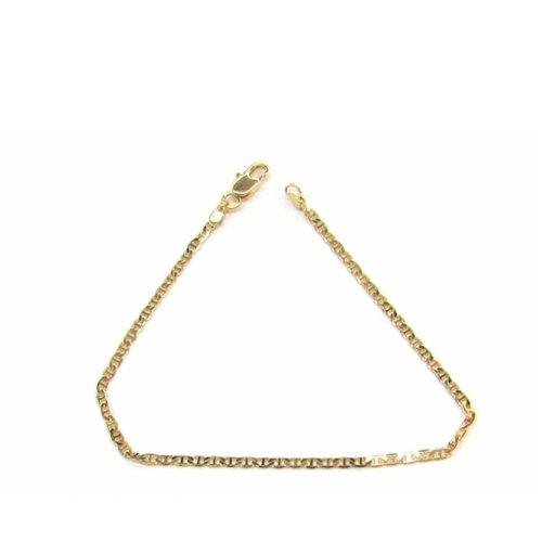 New 9 CT Gold Filled Marine Link Bracelet Teenager or Lady B26