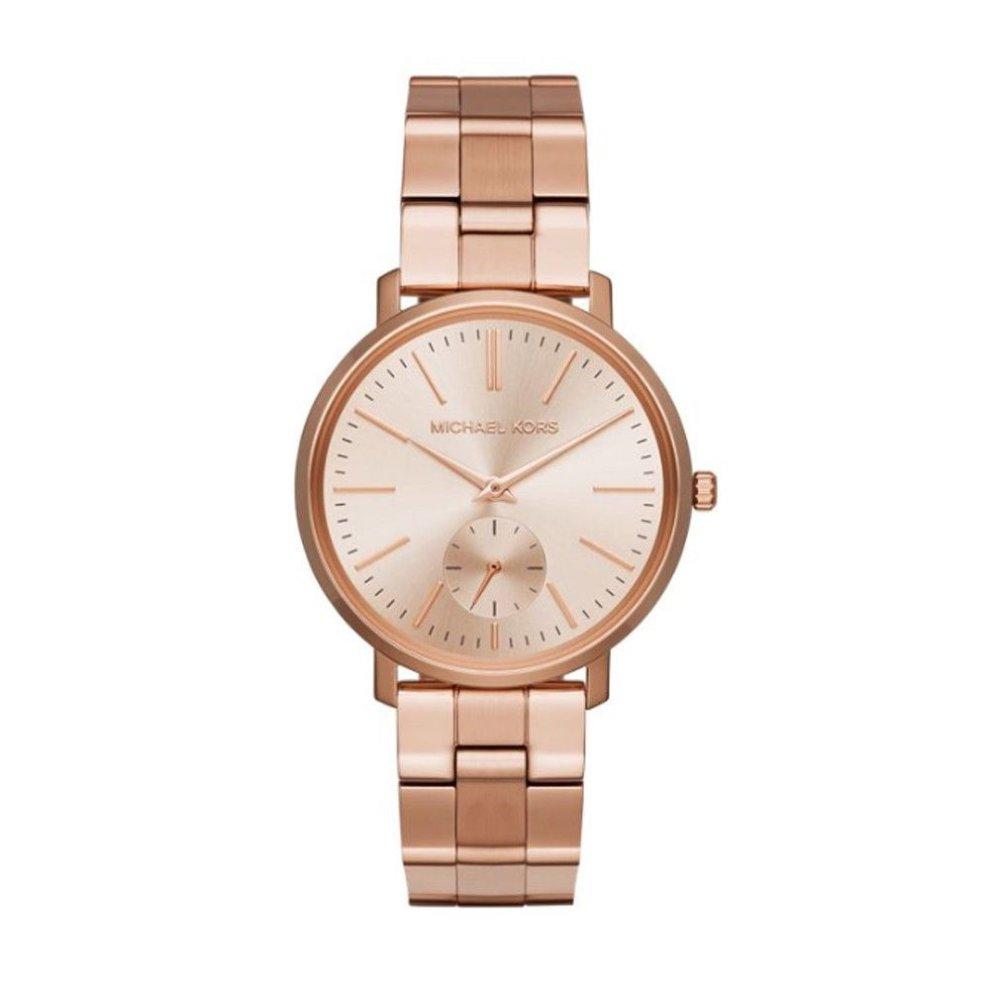Michael Kors Jaryn Womens Ladies Navy Gold Wrist Watch MK3501