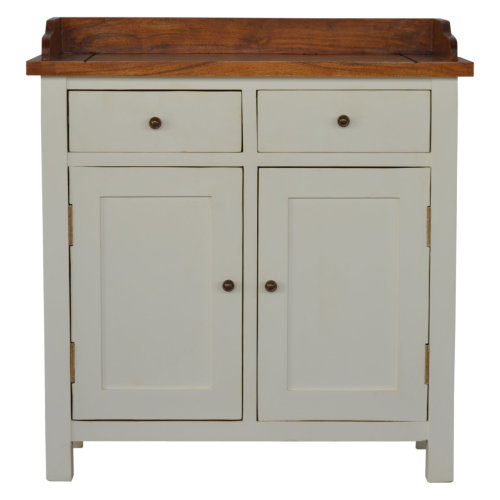 2 Toned Kitchen Unit with Gallery Back, 2 Drawers & 2 Cabinets