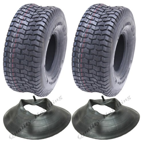 15x6.00-6 tyres and tube for grass mower, ride on lawnmower - Set of 2
